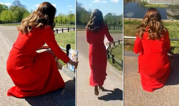 Kate Middleton in red coat