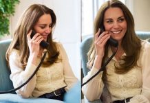 Kate Middleton style: Duchess wears £125 Whistles blouse for new Youtube video (Image: GETTY)