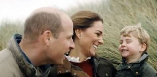 Kate and Prince William with little Prince Louis in newly released video