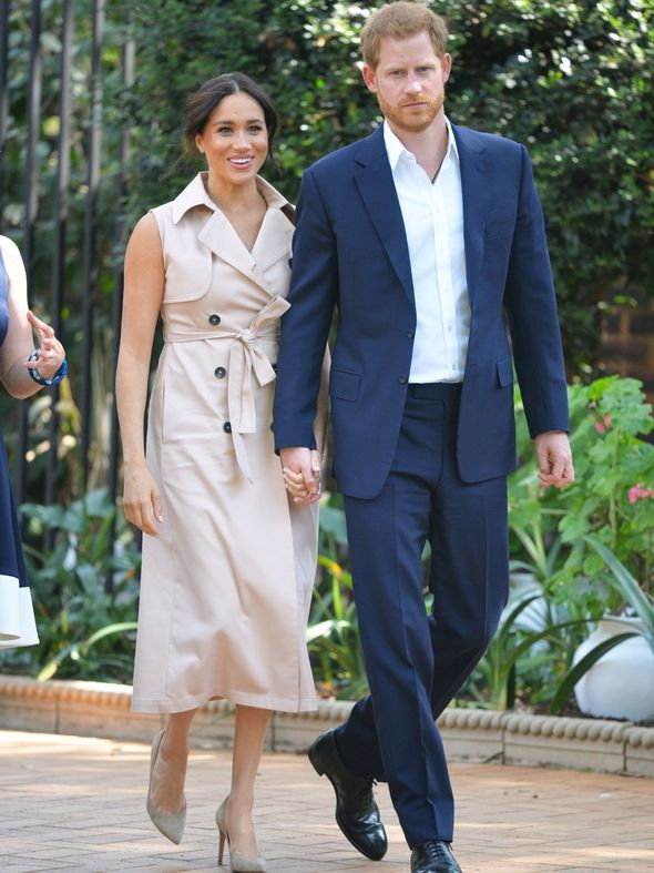 Meghan Markle and Prince Harry toured Africa(Image: getty)