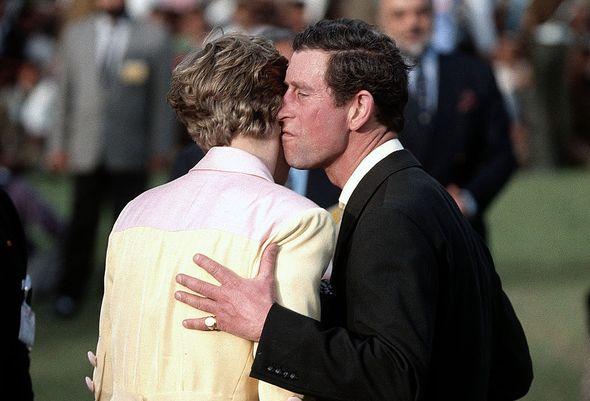 Prince Charles and Diana awkward kiss
