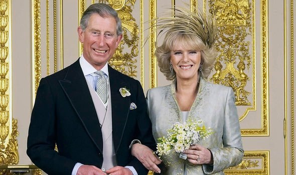 Prince Charles and Camilla on their wedding day in 2005(Image: GETTY)