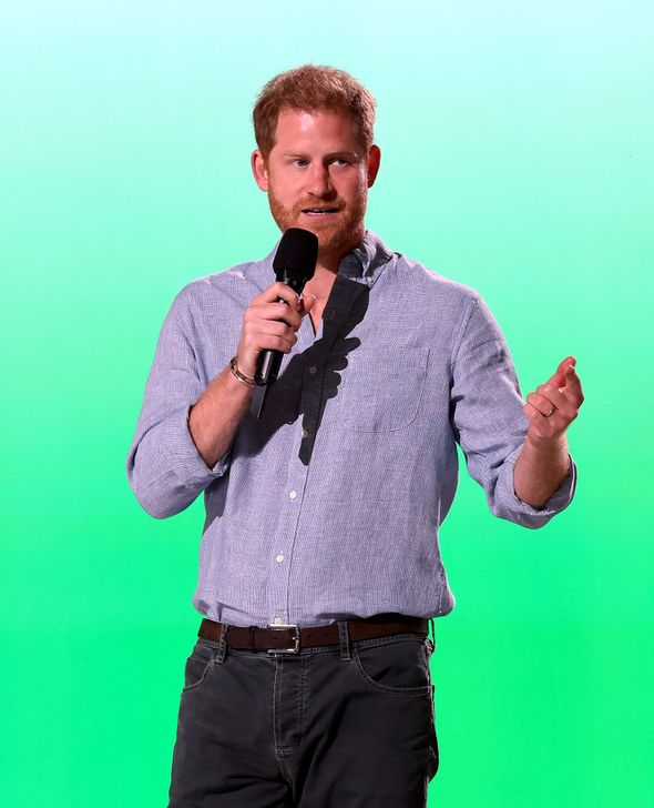 Prince Harry got a standing ovation at the Vax Live concert(Image: Getty Images)
