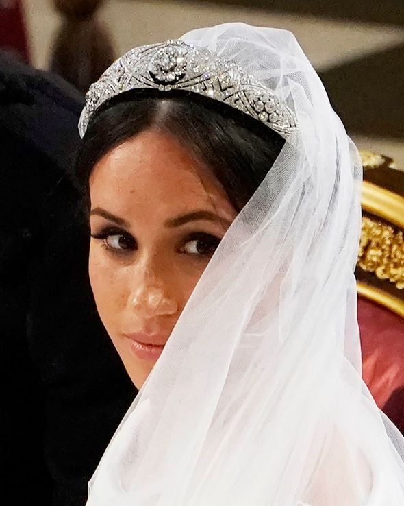Queen Mary's Diamond Bandeau was worn by Meghan Markle for her wedding to Prince Harry
