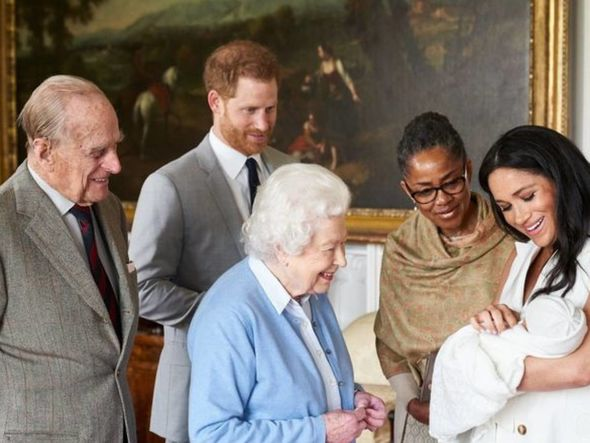 The Royal Family used older pictures of Archie to mark his birthday online(Image: PA)