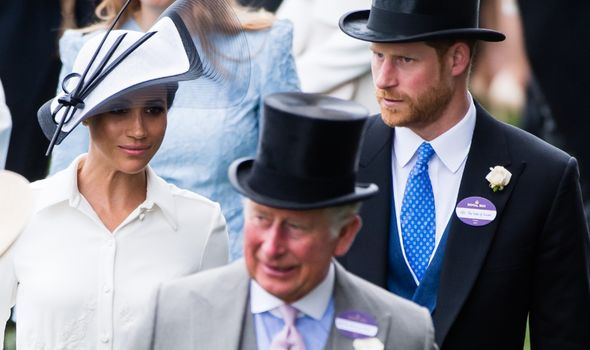 Charles, Harry and Meghan attend Royal Ascot.(Image: GETTY)
