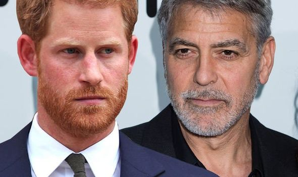 Prince Harry's friend Skippy said he was in awe of George Clooney(Image: GETTY)