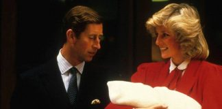 Prince Charles and Princess Diana introducing Prince Harry to the world(Image: GETTY)