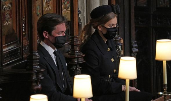 Bea and Edo pictured at the Duke of Edinburgh's funeral in April(Image: GETTY)