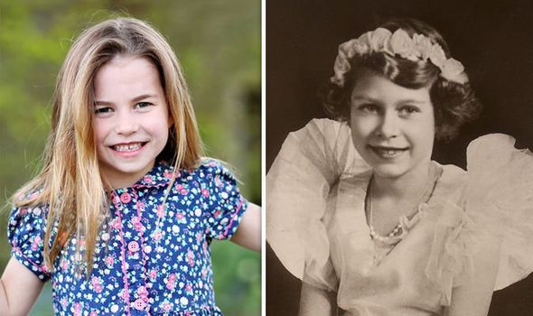 Princess Charlotte at six, the Queen at eight(Image: GETTY)