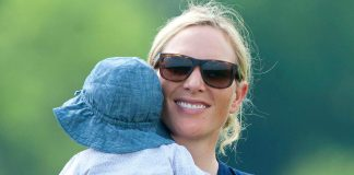 Zara Tindall looks besotted with son Lucas in first appearance since Prince Philip's funeral Photo (C) GETTY IMAGES