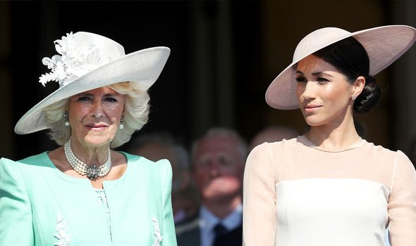 Camilla and Meghan Camilla and Meghan were said to get on well before Megxit(Image: GETTY)