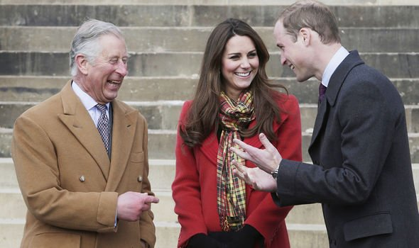 Charles, William and Kate sharing a joke(Image: Getty)