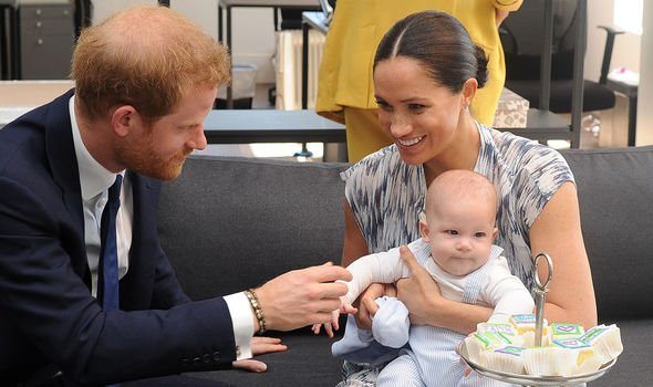 Harry and Meghan with their firstborn Archie back in 2019(Image: Getty)