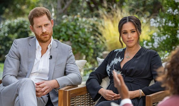 Harry and Meghan opened up during an Oprah Winfrey interview back in March(Image: Getty)