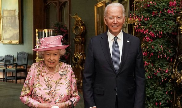 Joe Biden with the Queen(Image: GETTY)