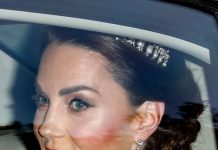 Kate Middleton style: Kate has been seen in the Queen Mother's sapphire and diamond fringe earrings(Image: GETTY)