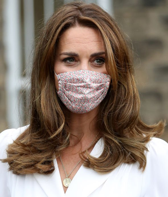 Kate Middleton style: The necklace has the initials, G, L and C - for her children(Image: GETTY)
