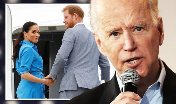 Meghan and Harry facing US backlash as Biden called out(Image: GETTY)