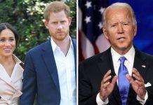 Meghan and Harry row as Joe Biden dubbed 'Switzerland'(Image: GETTY)