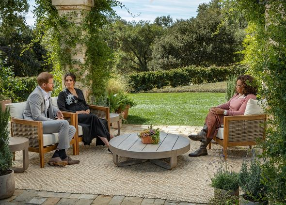 Meghan and Harry's interview with Oprah aired in March 2021(Image: GETTY)