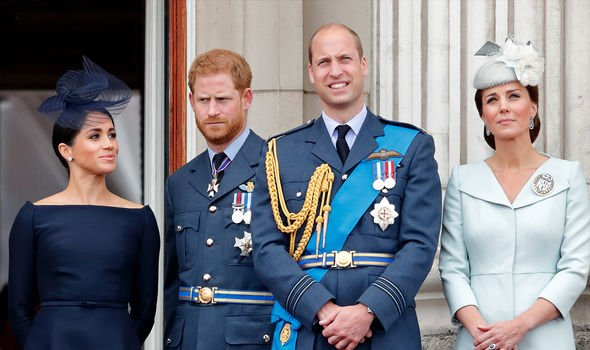 Meghan and Harry with Prince William and Kate
