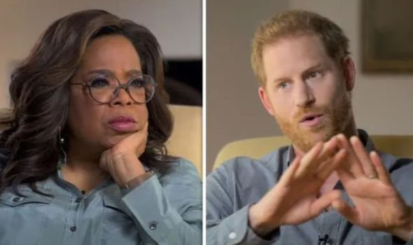 Oprah Winfrey and Prince Harry in their docuseries, 'The Me You Can't See'(Image: Apple TV )