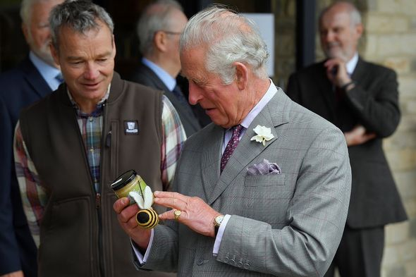 Prince Charles receives honey from FarmED(Image: Getty Images )