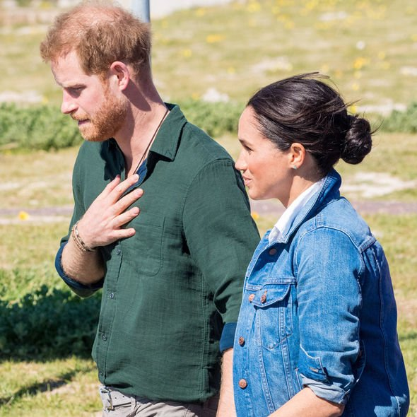 Prince Harry and Meghan Markle in California(Image: GETTY)