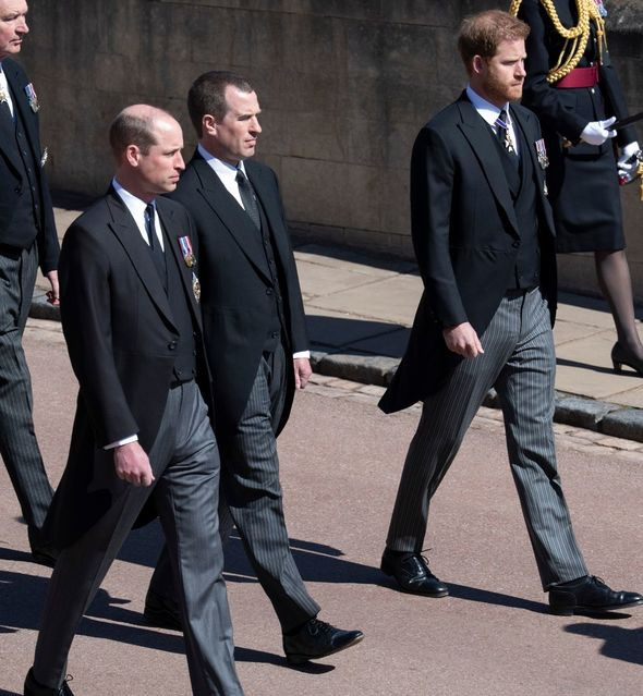 Prince Harry and Prince William were last together at Prince Philip's funeral(Image: getty)