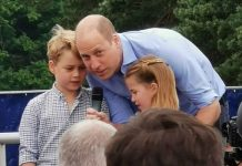 Prince William is pictured with George and Charlotte(Image: Twitter / PA)