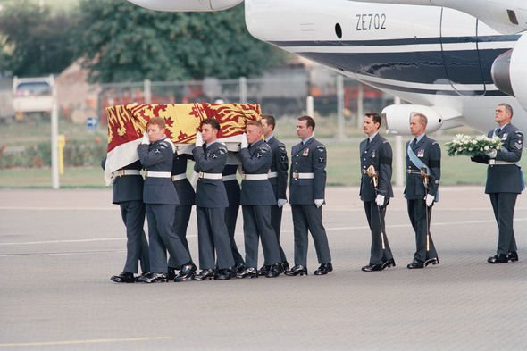 Princess Diana death: Diana's body was flown back to UK following the horror crash(Image: GETTY)