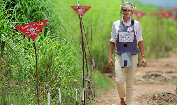 Princess Diana death: Diana's work to eliminate landmines prompted criticism from some(Image: GETTY)