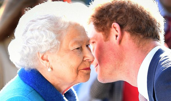 Queen Elizabeth II and Prince Harry(Image: PA)