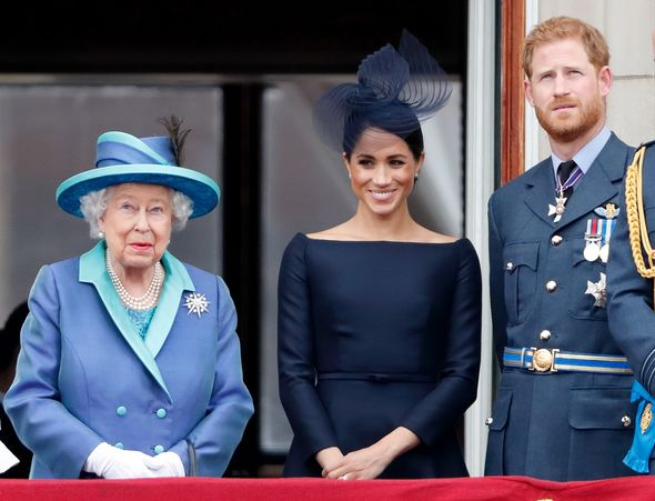Queen Elizabeth II with Meghan Markle and Prince Harry(Image: Getty)