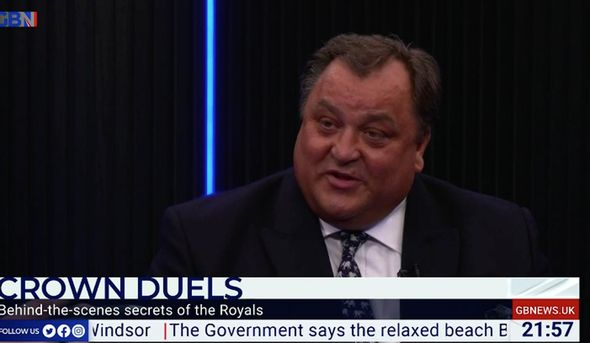 Royal news: Robert Jobson claimed he believed Harry and Meghan did not seek permission for Lilibet's name(Image: GB NEWS )