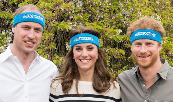 Kate, Harry and William working together on their Heads Together initiative(Image: Getty)