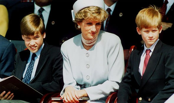 Princess Diana pictured with Prince William and Prince Harry(Image: GETTY)