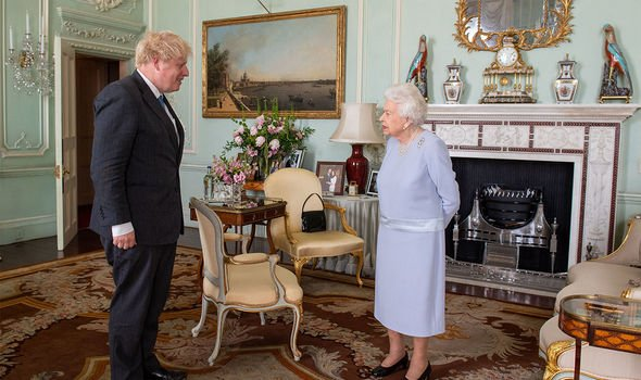 The Queen pictured giving an audience to Boris Johnson(Image: GETTY)