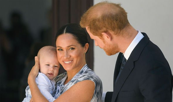 The Sussexes pictured with Archie in 2019(Image: GETTY)