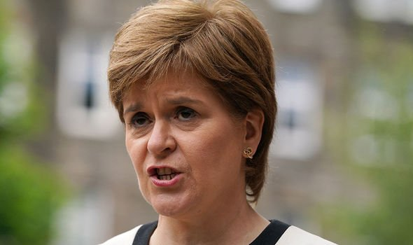 Nicola Sturgeon recommended against most travel between England and Scotland(Image: GETTY)