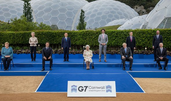 The Queen at the G7(Image: GETTY)