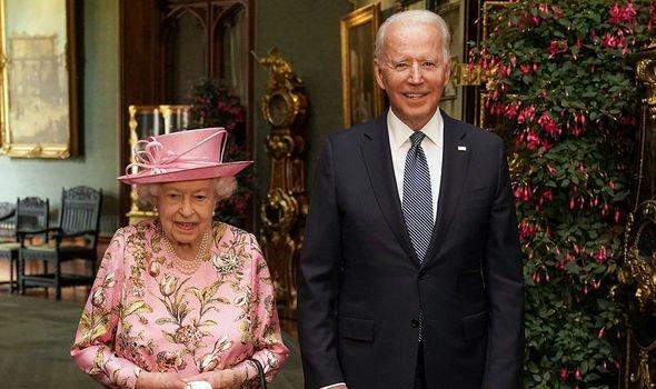 US President Joe Biden with the Queen(Image: GETTY)