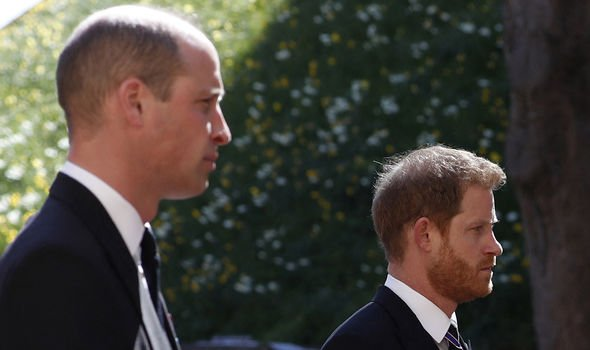 William and Harry saw each other briefly during Philip's funeral(Image: Getty)