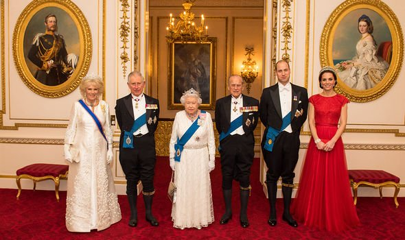 William, Kate, Charles, Camilla, the Queen and Prince Philip(Image: GETTY)