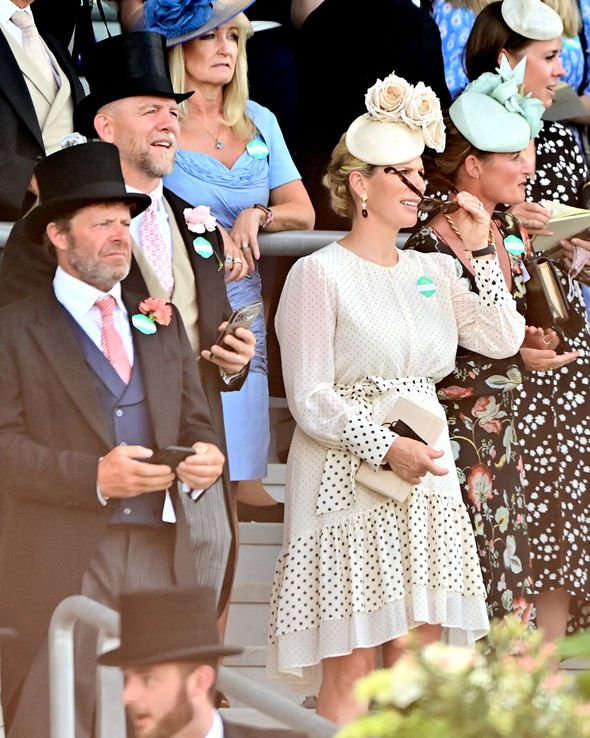 Zara Tindall and Mike are both professional sportspeople and seemed to be in their element(Image: GETTY)