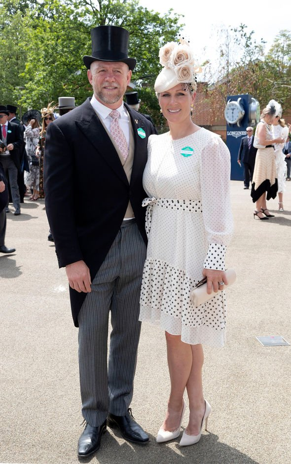 Zara Tindall and Mike: Were dressed to the nines as they attended Royal Ascot on Tuesday(Image: GETTY)