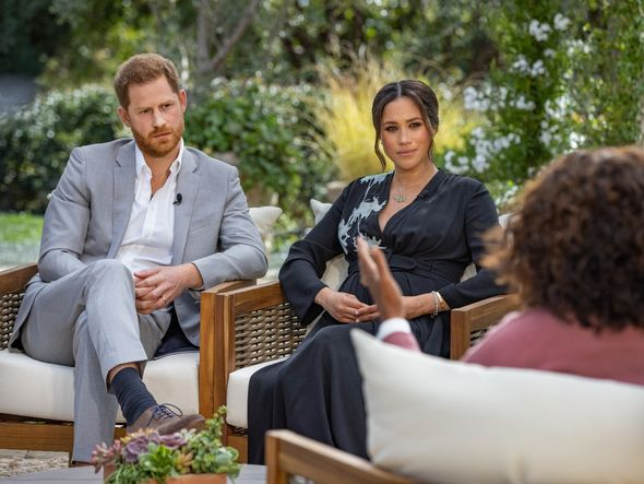 The couple hit out at the royals in their controversial Oprah Winfrey interview in March(Image: GETTY)