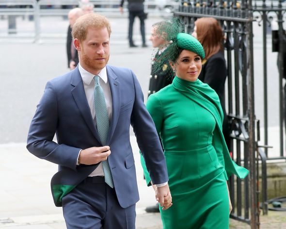 Harry and Meghan are living in California after quitting royal duties last year(Image: GETTY)