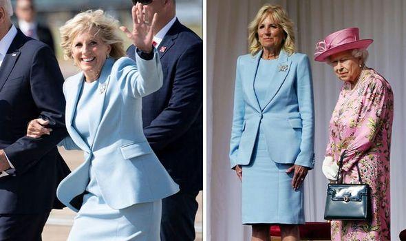 jill biden in blue suit